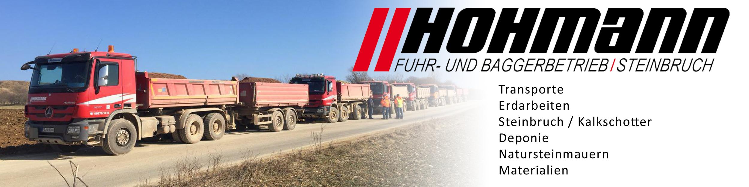 Hohmann Fuhr- und Baggerbetrieb